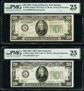 Small Size:Federal Reserve Notes, Fr. 2054-A* $20 1934 Mule Federal Reserve Star Note. PMG Very Fine 25;. Fr. 2054-L* $20 1934 Federal Reserve Star Note. PM... (Total: 2 notes)