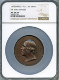 U.S. Mint Medals, 1875-Dated Dr. W. H. Furness Medal, Julian-PE-12, MS64 Brown NGC. Bronze, 64 mm....