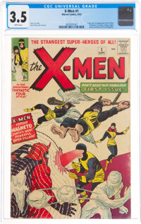 X-Men #1 (Marvel, 1963) CGC VG- 3.5 White pages