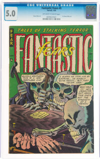 Fantastic Fears #5 (Farrell, 1954) CGC VG/FN 5.0 Off-white to white pages