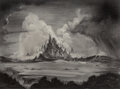 Pulp, Pulp-like, Digests and Paperback Art, John Coleman Burroughs (American, 1913-1979). Castle in the Beyond. Charcoal on board. 14 x 19-1/4 inches (35.6 x 48.9 c...