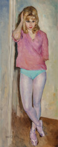Mainstream Illustration, Pal Fried (Hungarian/American, 1893-1976). Dancer. Oil on canvas. 40 x 16 inches (101.6 x 40.6 cm)