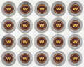 Football Collectibles:Others, Washington Football Team Commemorative Coins, Lot of 20....