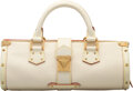"""Luxury Accessories:Bags, Louis Vuitton White Suhali Leather L'Epanoui PM Bag. Condition: 2. 13"""" Width x 5.5"""" Height x 4.5"""" D..."""