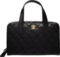 """Luxury Accessories:Bags, Chanel Black Quilted Leather Surpique Bowler Bag with Brushed Gold Hardware. Condition: 3. 13"""" Widt..."""