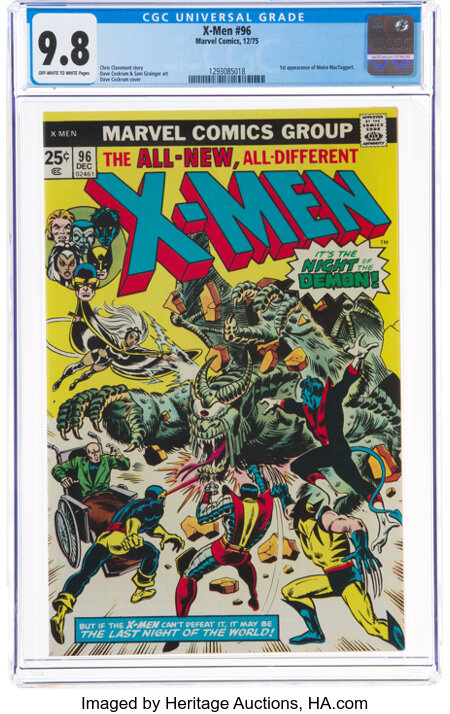 X-Men #96 (Marvel, 1975) CGC NM/MT 9.8 Off-white to white pages....
