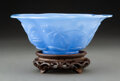 Glass, A Large Chinese Peking Glass Bowl, 19th century. 3-1/4 x 8-1/2 inches (8.3 x 21.6 cm). ...
