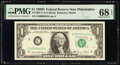 Small Size:Federal Reserve Notes, Fr. 1907-C $1 1969D Federal Reserve Note. PMG Superb Gem Unc 68 EPQ.. ...