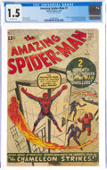 Silver Age (1956-1969):Superhero, The Amazing Spider-Man #1 (Marvel, 1963) CGC FR/GD 1.5 Off-white pages....