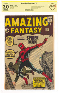 Amazing Fantasy #15 Verified Signature: Stan Lee - Trimmed (Marvel, 1962) CBCS GD/VG 3.0 Off-white pages