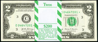 Fr. 1941-C* $2 2017A Federal Reserve Star Notes. Original Pack of 100. ... (Total: 100 notes)