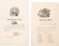 Political:Small Paper (pre-1896), Andrew Jackson and William Henry Harrison: Invitations to Celebratory Balls.... (Total: 2 Items)