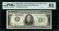 Fr. 2202-B $500 1934A Federal Reserve Note. PMG Choice Uncirculated 63