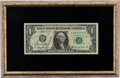 Explorers:Space Exploration, Apollo 8 Crew-Signed Dollar Bill in Framed Display.