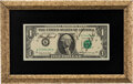 Explorers:Space Exploration, Apollo 14 Crew-Signed Dollar Bill in Framed Display.