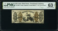 Fractional Currency:Third Issue, Fr. 1359 50¢ Third Issue Justice PMG Choice Uncirculated 63 EPQ.. ...