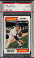 Baseball Cards:Singles (1970-Now), 1974 Topps Gaylord Perry #35 PSA Mint 9....