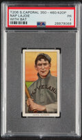 Baseball Cards:Singles (Pre-1930), 1909-11 T206 Sweet Caporal 350-460/42OP Nap Lajoie (With B...