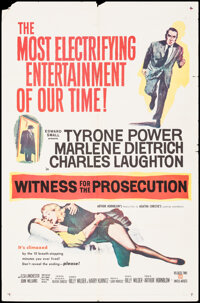 """Witness for the Prosecution (United Artists, 1958). Folded, Fine+. One Sheet (27"""" X 41""""), Title Card, & Lo..."""