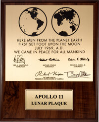Apollo 11 Limited Edition Lunar Plaque Signed by Buzz Aldrin