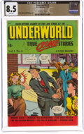 Golden Age (1938-1955):Crime, Underworld #4 The Promise Collection Pedigree (D.S. Publishing, 1948) CGC VF+ 8.5 White pages....