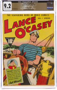 Lance O'Casey #1 The Promise Collection Pedigree (Fawcett Publications, 1946) CGC NM- 9.2 Off-white to white pages