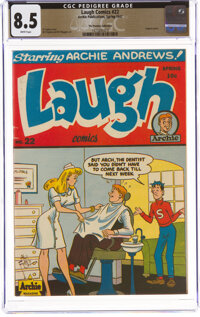 Laugh Comics #22 The Promise Collection Pedigree (Archie, 1947) CGC VF+ 8.5 White pages