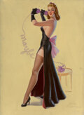 Pin-Up and Glamour Art, Art Frahm (American, 1906-1981). On a Call, calendar illustration, circa 1939. Oil on canvas. 30 x 2...