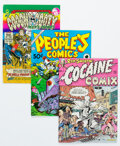 Silver Age (1956-1969):Alternative/Underground, Underground Comix Group of 66 (Various Publishers, 1960s-70s) Condition: Average VG.... (Total: 66 Comic Books)