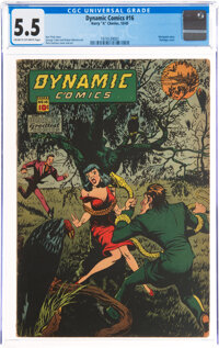 Dynamic Comics #16 (Chesler, 1945) CGC FN- 5.5 Cream to off-white pages