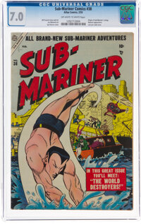 Sub-Mariner Comics #38 (Atlas, 1955) CGC FN/VF 7.0 Off-white to white pages
