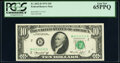 Small Size:Federal Reserve Notes, Near Solid Serial Number 41111111 Fr. 2022-B $10 1974 Federal Reserve Note. PCGS Gem New 65PPQ.. ...