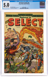 All Select Comics #5 (Timely, 1944) CGC VG/FN 5.0 Cream to off-white pages
