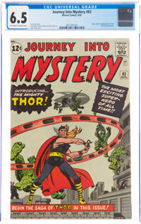 Journey Into Mystery #83 (Marvel, 1962) CGC FN+ 6.5 Off-white to white pages