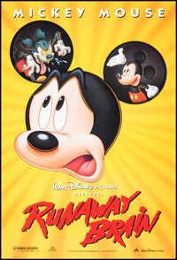 """Runaway Brain & Other Lot (Buena Vista, 1995). Rolled, Very Fine. One Sheets (2) (27"""" X 40""""). Animation..."""
