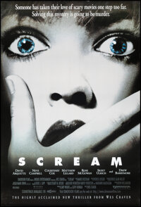 """Scream (Dimension, 1996). Rolled, Very Fine. One Sheet (27"""" X 40"""") SS. Horror"""