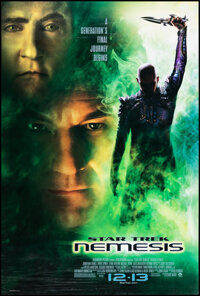 """Star Trek: Nemesis & Other Lot (Paramount, 2002). Rolled, Very Fine. One Sheets (2) (27"""" X 40"""") DS Advance..."""