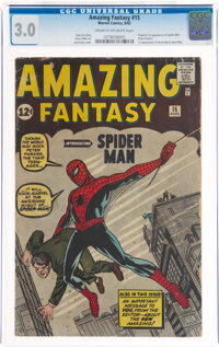 Amazing Fantasy #15 (Marvel, 1962) CGC GD/VG 3.0 Cream to off-white pages