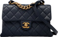 """Luxury Accessories:Bags, Chanel Navy Calfskin Leather Fashion Therapy Bag with Aged Gold Hardware. Condition: 3. 9.6"""" Width ..."""