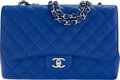 """Luxury Accessories:Bags, Chanel Blue Quilted Caviar Leather Jumbo Flap Bag with Silver Hardware. Condition: 2. 12"""" Width x 8..."""