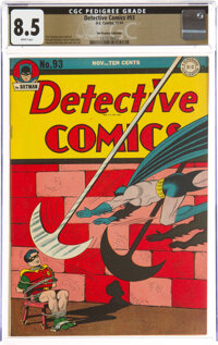 Detective Comics #93 The Promise Collection Pedigree (DC, 1944) CGC VF+ 8.5 White pages