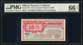 Military Payment Certificates:Series 471, Series 471 10¢ First Printing PMG Gem Uncirculated 66 EPQ.. ...