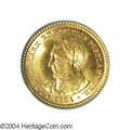 Commemorative Gold: , 1904 G$1 Lewis and Clark MS65 PCGS. Sharply defined with ...