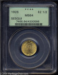 Commemorative Gold: , 1926 $2 1/2 Sesquicentennial MS64 PCGS. Well struck with ...