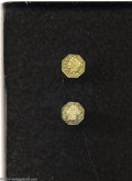 California Fractional Gold: , 1864 25C Liberty Octagonal 25 Cents, BG-706, High R.5, MS60 ... (2pieces)