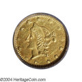 California Fractional Gold: , 1864 50C Liberty Round 50 Cents, BG-1016A, R.8, AU58 PCGS.