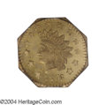 California Fractional Gold: , 1876/5 Indian Octagonal 1 Dollar, BG-1129, R.4 MS64 PCGS. ...