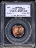 Errors: , 2000 1C Lincoln Cent-Triple Struck, Second and Third ...