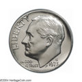 Proof Roosevelt Dimes: , 1973-S 10C PR69 Deep Cameo PCGS. This magnificent example ...