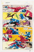Memorabilia:Miscellaneous, Glynis Oliver (as Glynis Wein) Daredevil #172 Story Page 19 Production Color Guide (Marvel, 1981)....